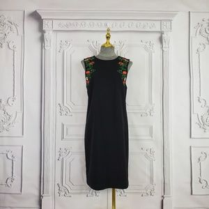 Pixley Dress Sleeveless Size 6, Black w/ Floral